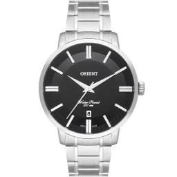 Relógio Orient Masculino Prata Mbss1387 P1sx Mostrador Preto