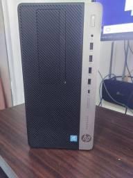 CPU HP ProDesk 600 G3 Mini Torre 6a Geração 8G DDR4 2666 e 1TB de HD