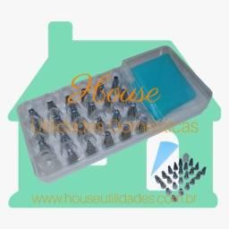 Kit para Confeitar 23 Bicos de Inox