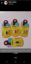Adaptador OTG e micro USB R$ 20,00 cada