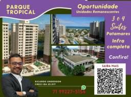 Título do anúncio: Patamares , 2 vagas , Varanda Gourmet , Parque Tropical , 3 suítes , 113m²