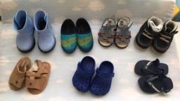 Lote sapatos 18 a 21 bebe menino