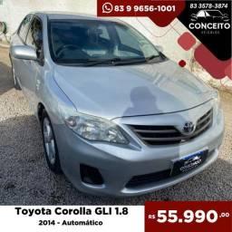 Título do anúncio: Toyota Corolla GLi 2014 Automático 1.8