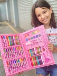 Maleta Infantil pintura Rosa 98 peças e azul 86 peças