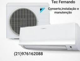 Instalação e conserto de Split ar condicionado..