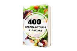 Manual com 400 receitas fitness e low carb