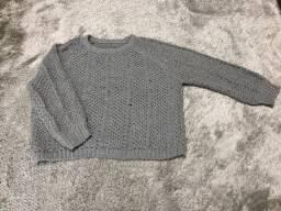 Blusa tricot cinza