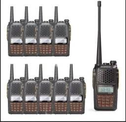 Kit 10 Radio Walk Talk Dual Band(uhf+vhf) Baofeng Uv-6r + Fone