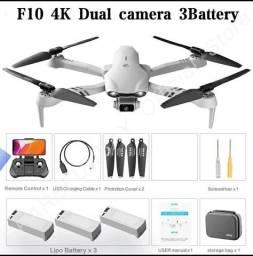 Drone F10 com 3 baterias NOVO