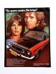 Ford Corcel I e Corcel GT - Propaganda Antiga, Publicidade