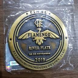 Moeda medalha do flamengo 2019