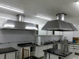 Coifas bancadas utencilios cozinhas industriais aço inox