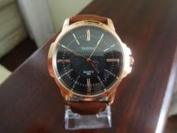 Relógio Yazole Dourado Original à Prova d'água 100% Novo