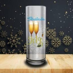 Kit 50 Unidades Copos Long Drink para Natal, Ano Novo e Festas em Geral Personalizados