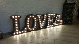LOVE luminoso (locação)