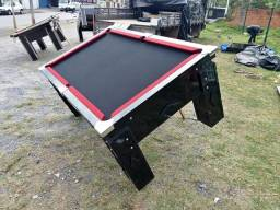Mesa de bilhar modelo (fsds 2783) pano preto borda vermelha