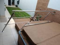 Corrimão escada aço inox