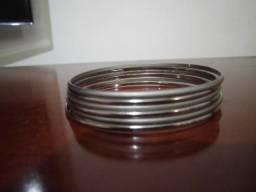 3148a882591 6 Pulseiras Bracelete Argola