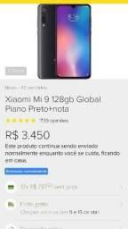 Xiaomi MI 9 Snapdragom 855 6GB Ram 128 GB Armazenamento