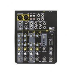 Mesa De Som 6 Canais Skp Pro Audio Vz 6.2 (Com entrada Pendrive)