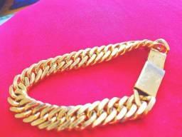 Prata banhado ouro pulseira
