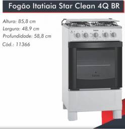 Fogão Star Clean 4bcs Itatiaia