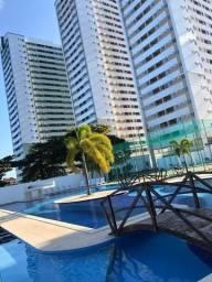 JS- More com vista para o Mar no Janga - Beira Mar Condomínio Clube - 03 quartos