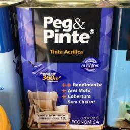 Tinta látex 18l Eucatex Peg & Pinte R$ 119,90