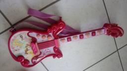 Guitarra musical princesas da disney novíssima para meninas crianças