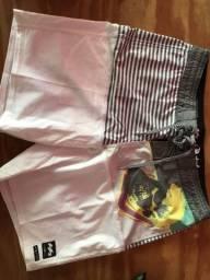 Shorts Billabong Coleção Andy Warhol - Nunca Usado