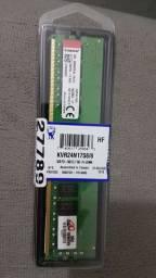 Memória RAM Kingston DDR4 8 gb 2400 ghz, nova lacrada!