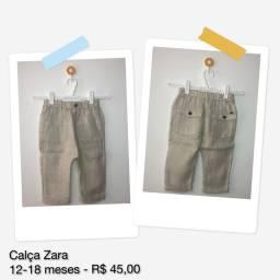 Calça infantil linho Zara