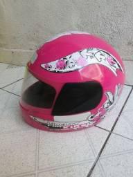 Capacete infantil rosa n 54