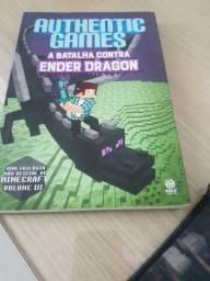 Livro Authentic games a batalha contra o ender dragon