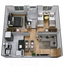 Apartamento condomínio em Várzea Grande.