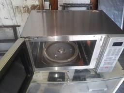 Forno microondas inox 120v ac.cartao