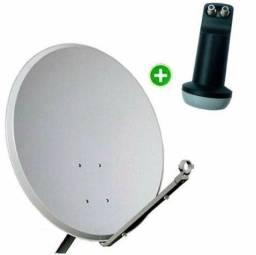 Antena KU 75cm com Lnb duplo.