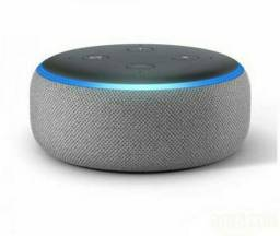 Smart Speaker Amazon com Alexa Cinza - ECHO DOT<br> COM 8X R$: 30,97???<br>