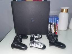 Playstation 4 Pro 2tb + 3 Controles + 9 Jogos - Aceito Cartão