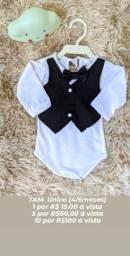 Roupas bebê Novas. Masculino e feminino. Veste até 4 a 5  meses.