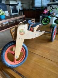 Wood Bike bicicleta de madeira pedagógica