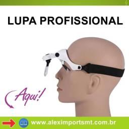 Lupa Cabeça Oculos Profissional Aumento Estetica Leitura Luz Cilios