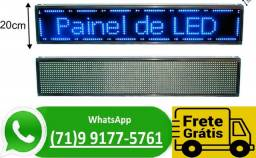 Painel Led Letreiro Luminoso Digital - 70 X 20 - Azul (NOVO)