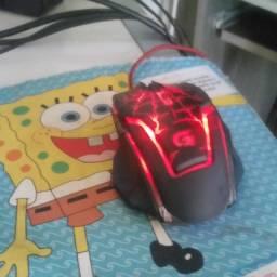 Mouse gamer fortrek spyder2 3200dpi cabo usb