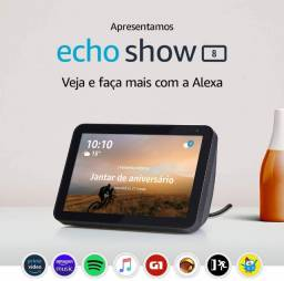 Echo Show 8 com Alexa - Tela de 8 polegadas - Cor Preta - ProntaEntrega