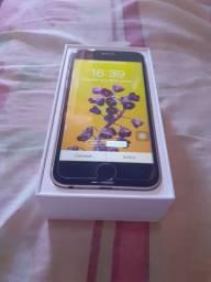 Iphone 6 dourado/preto