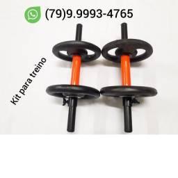 Kit para treino ( Barrinhas 40 cms + Anilhas )