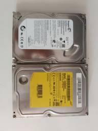 2 HDs 500GB + Cabo Sata