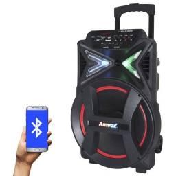 Promoção!! Caixa de Som Amplificada Strondo Amvox 400W Bluetooth Bivolt - R$ 849,99