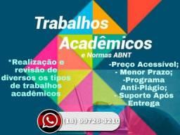 Auxílio em Trabalhos acadêmicos